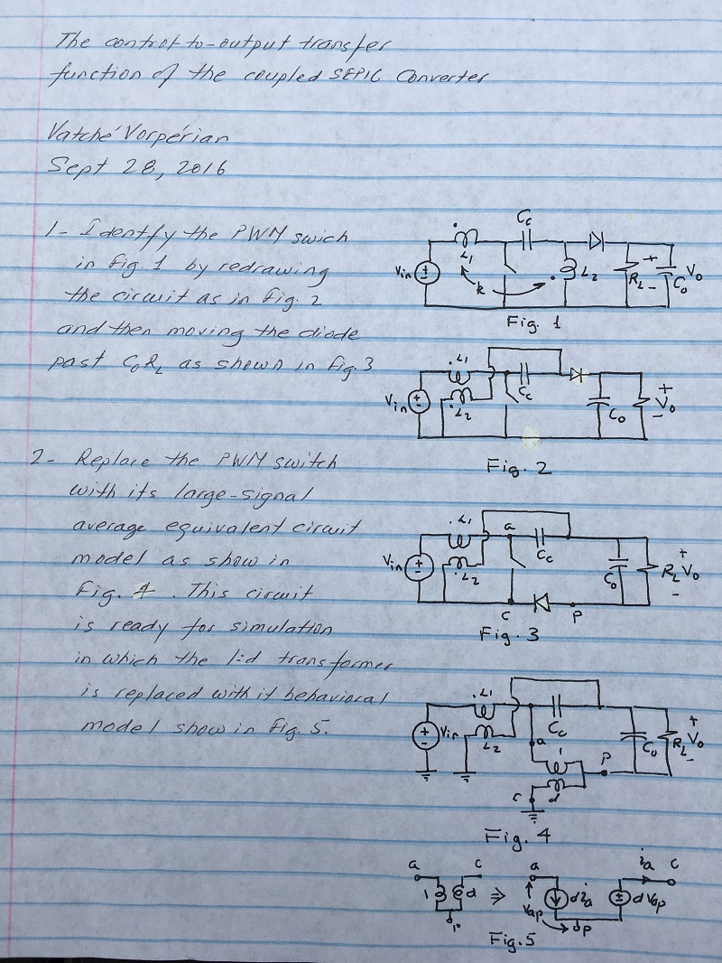 Ridley Engineering Design Center Open Circuit Short Test On Transformer Prepaired By Manavar 098a Vorperians Coupled Sepic Analysis Notes